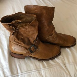 Frye Veronica Boots Camel Size 10